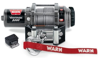 Picture of WARN VANTAGE 2000LB (900KG) 12V ATV WINCH WITH STEEL CABLE