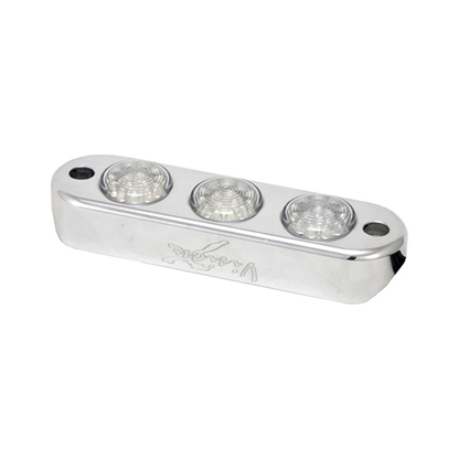 Picture of UNIVERSAL BILLET TRIPLE LED PODS WHITE