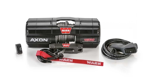 Picture of WARN AXON 45RC POWERSPORT 12V WINCH 4500LB (2041KG)  WITH SYNTHETIC ROPE